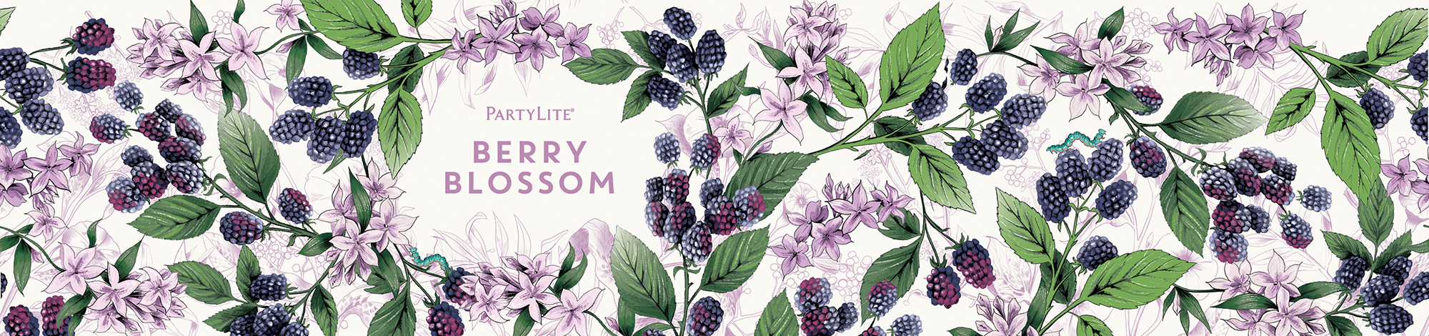 fig.7. Berry Blossom candle wrap pattern illustration