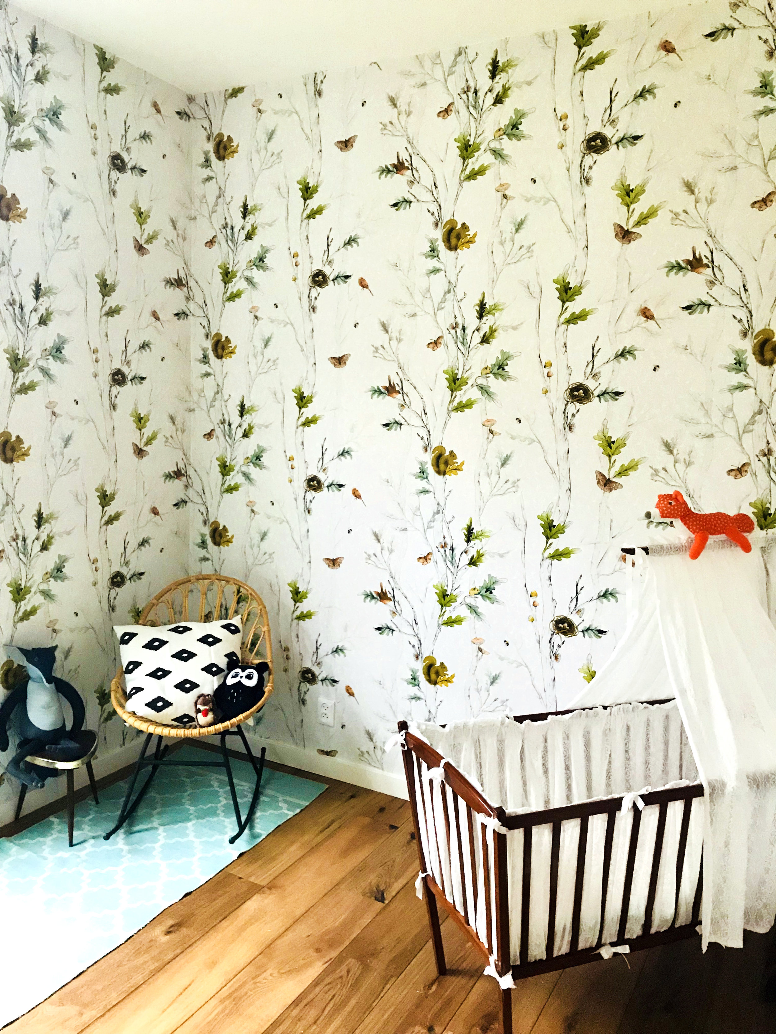 Fig. 3. Nursery with wallpaper