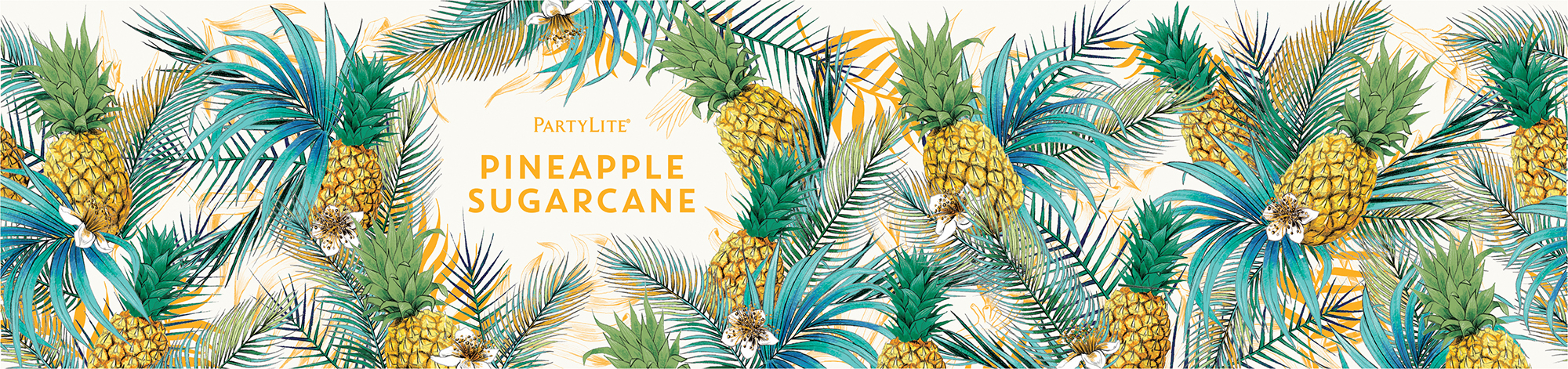 fig.5. Pineapple Sugarcane candle wrap pattern illustration