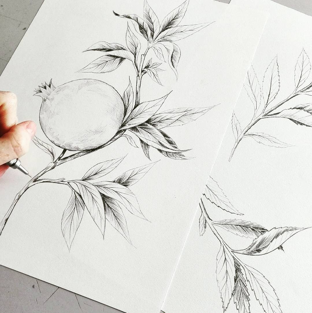 I draw everything by hand