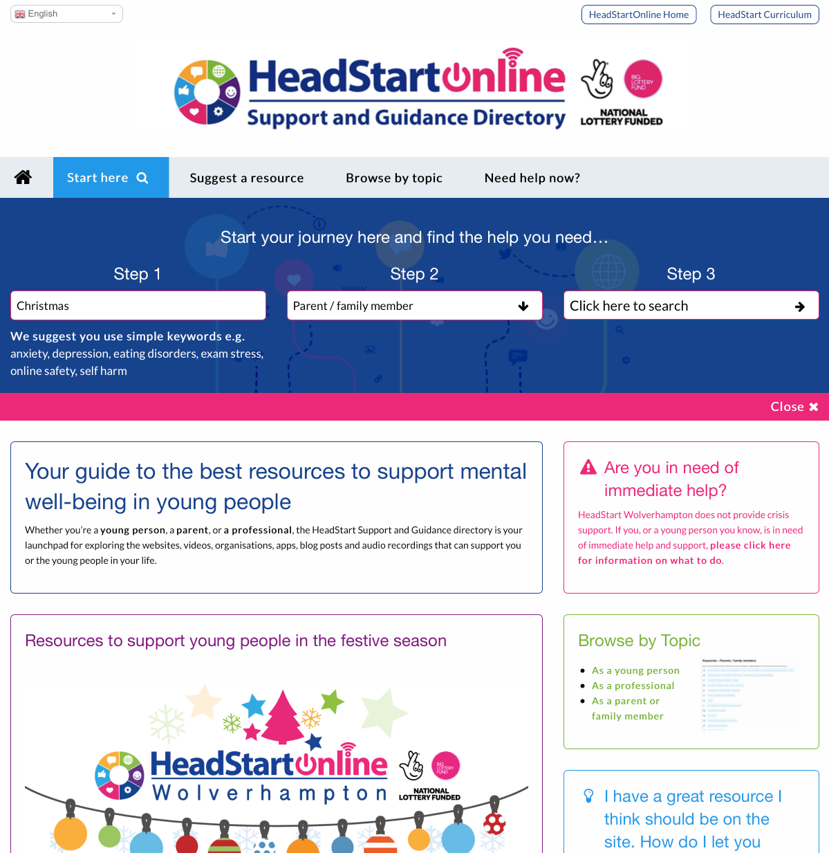 Visit the new HeadStartOnline Support and Guidance site