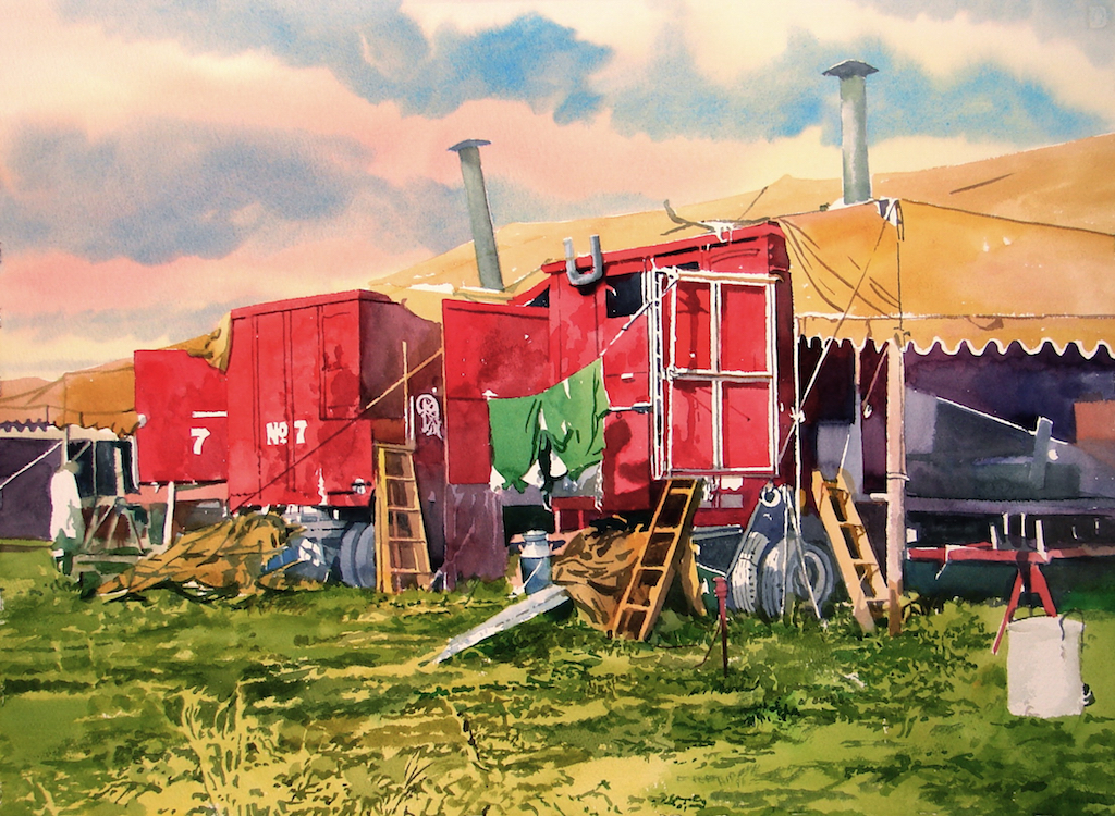 """""""Cook Tent Wagons,"""" by David Coolidge"""