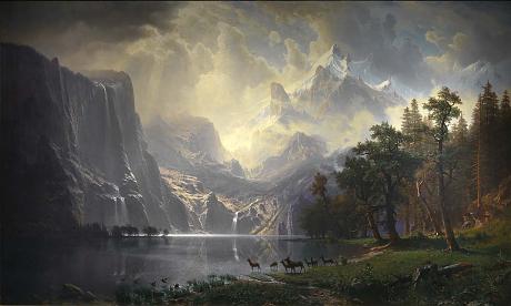 Albert Bierstadt's    Among the Sierra Nevada, California  at the Smithsonian American Art Museum.