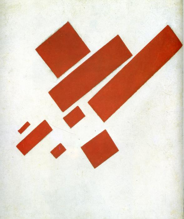 Suprematist Painting: Eight Red Rectangles , Kazimir Malevich,1915.