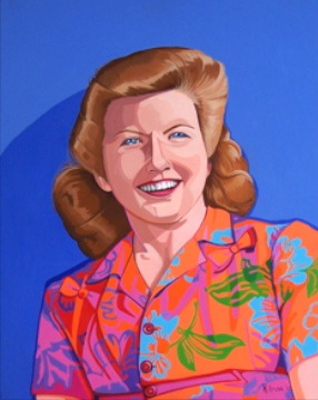 """An Aloha State of Mind , 24"""" x 28"""", oil on board, 2011."""
