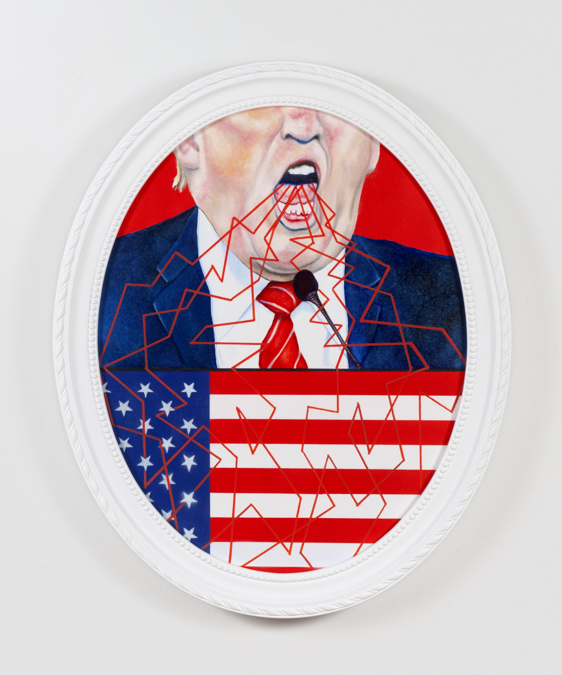 Make America Hate Again! , oil and aerosol on canvas, 2015.
