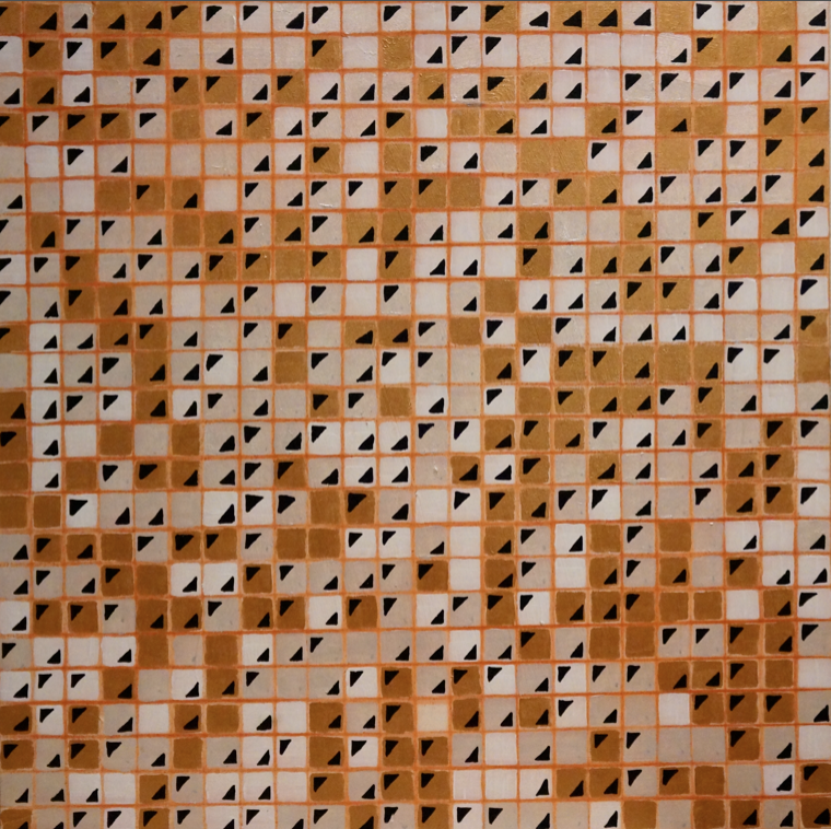 "Probability Study , July 2015  Abstract acrylic, 24"" x 24"""