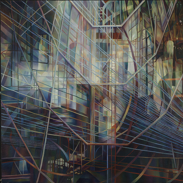 String Theory III  by   Nancy Newman Rice, Oil on panel