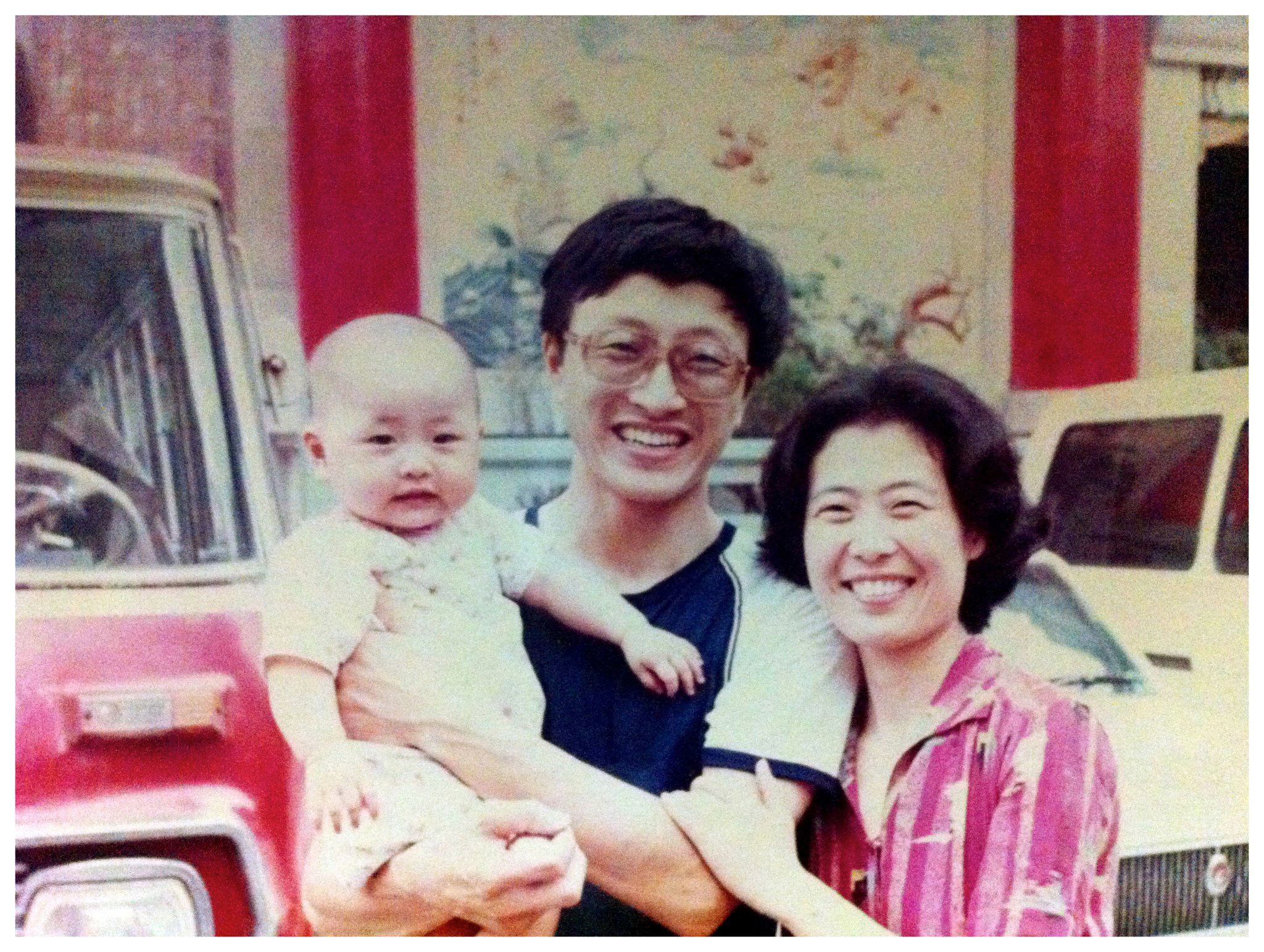 1987: a year before my father left for the US; my mother and I followed a year later in 1989