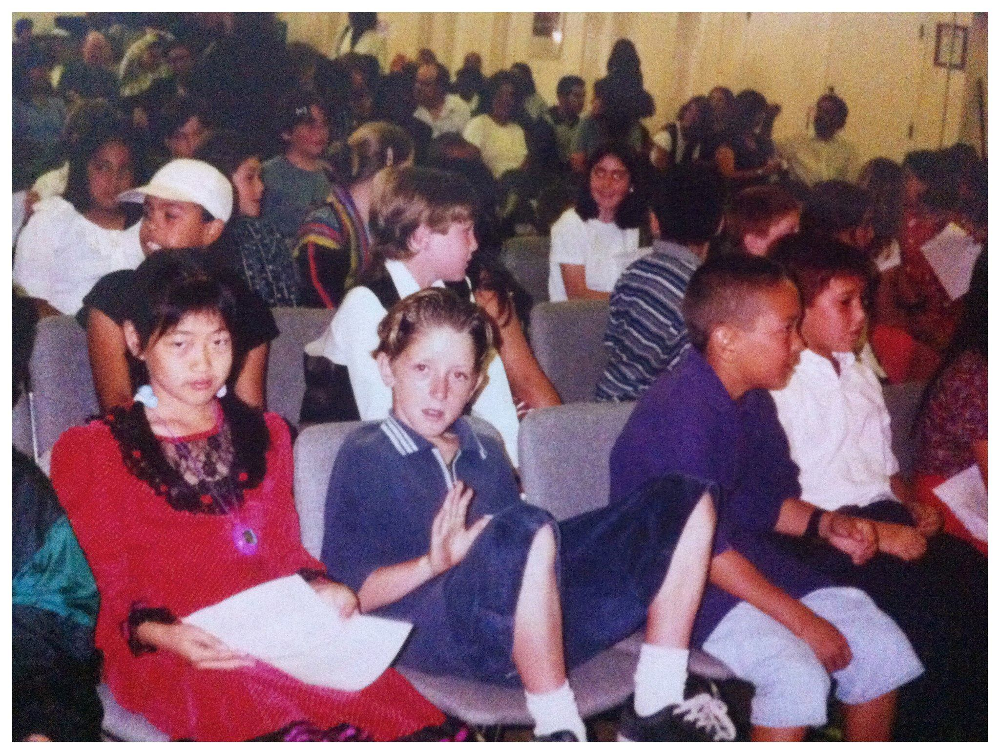 1996: 5th Grade graduation at Will Rogers Elementary School in Santa Monica, California
