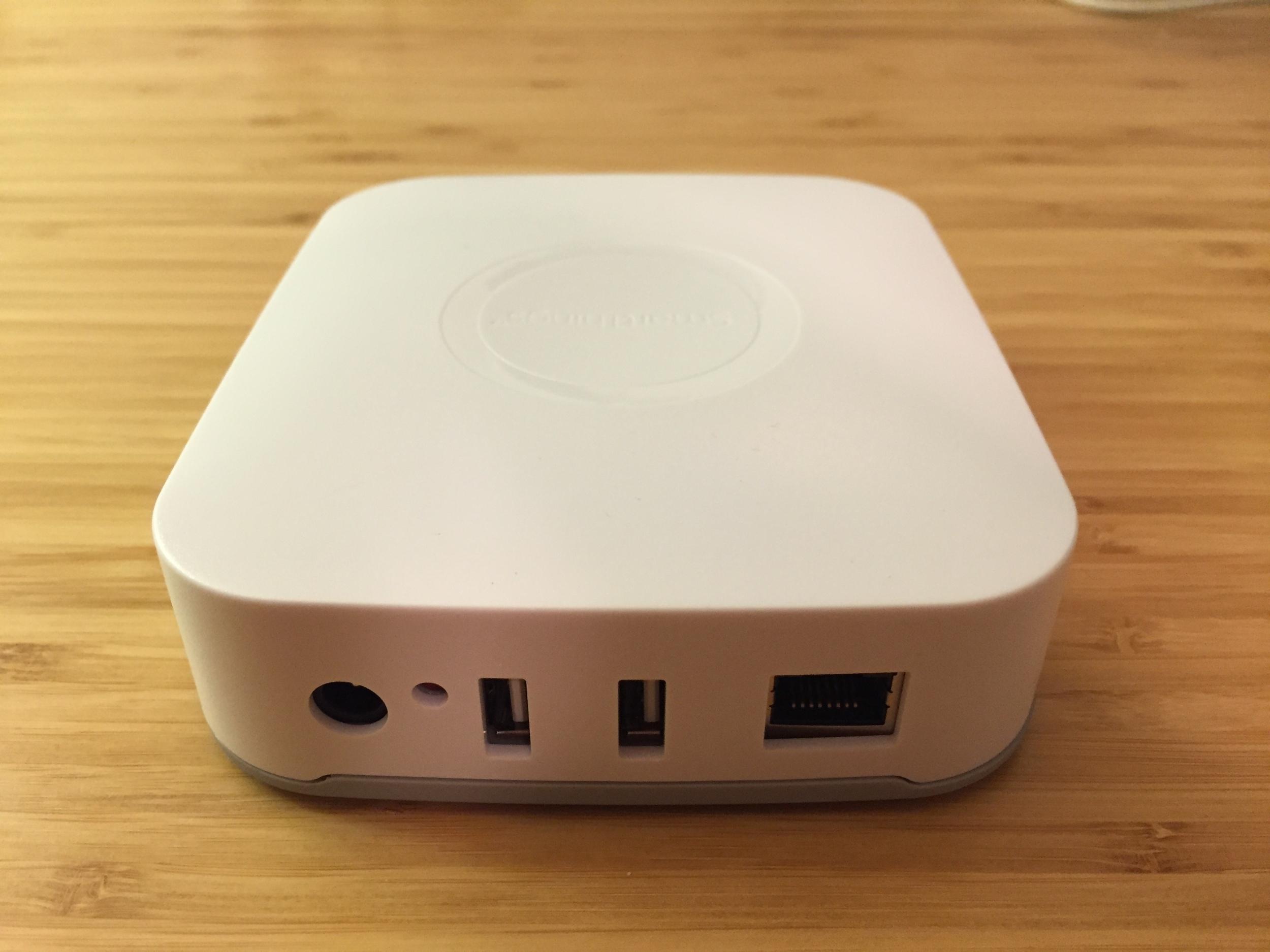 SmartThings hub. See it on Amazon.