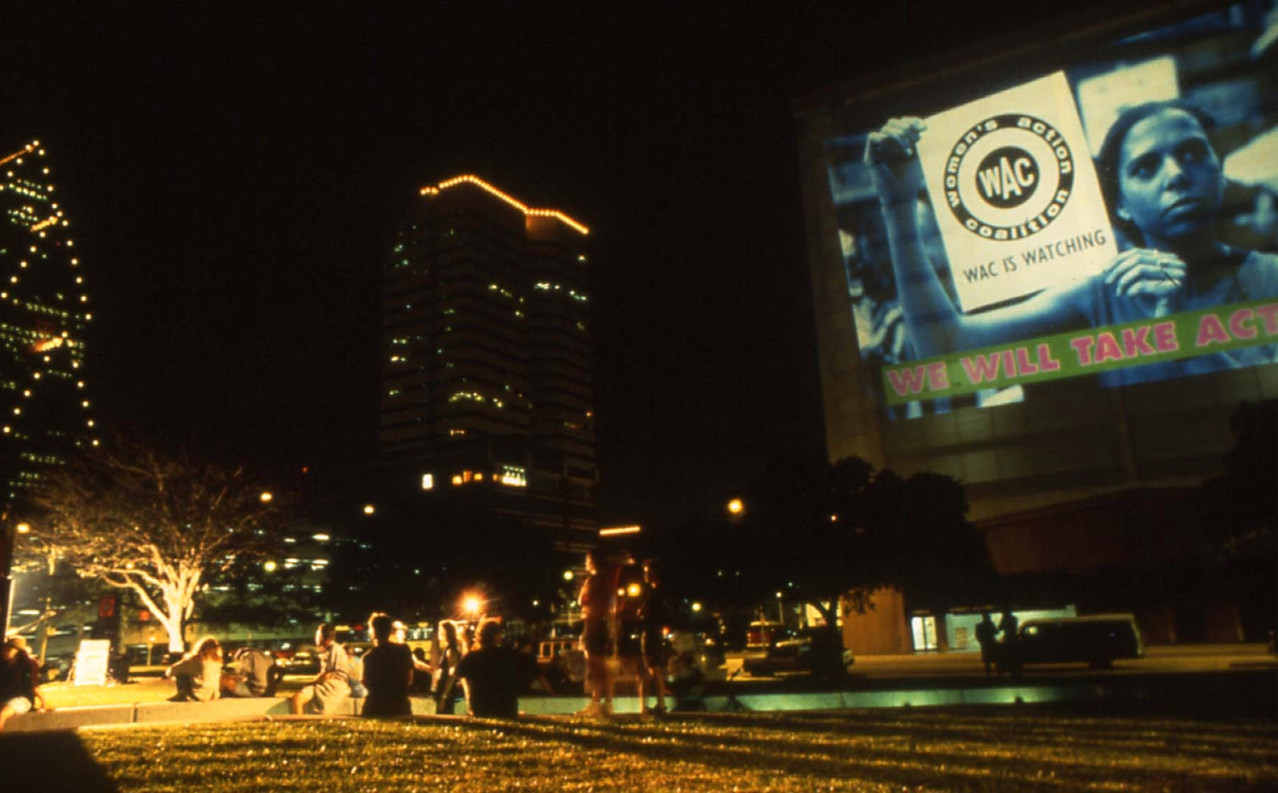 Women Ignite, sound & light show produced by WAC in Houston, Texas. 1992