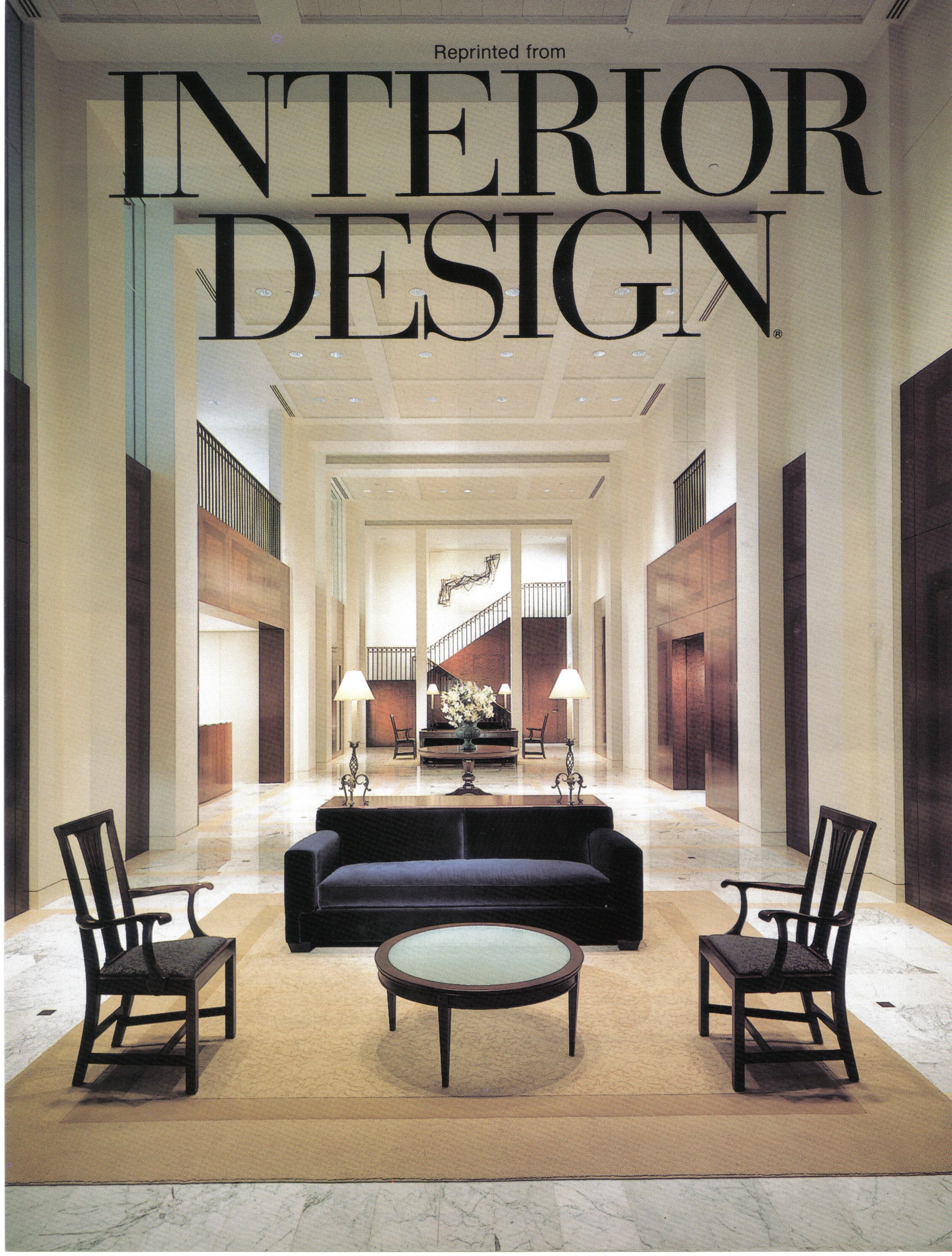 Corporate Art Installation: Price Waterhouse International Headquarters, The Americas Tower. Interior Design Magazine cover, 1994.