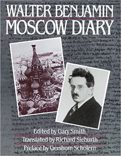 "Walter Benjamin's  Moscow Diary  from 1926 which explores ""straying"" as a mode of survival for life lived on the margins. Benjamin's travels through the streets of Moscow reveal the complex interplay between territory and national identity. His diary documents a sense of increasing alienation from self and society and struggle to adapt to a complex socio-political moment."