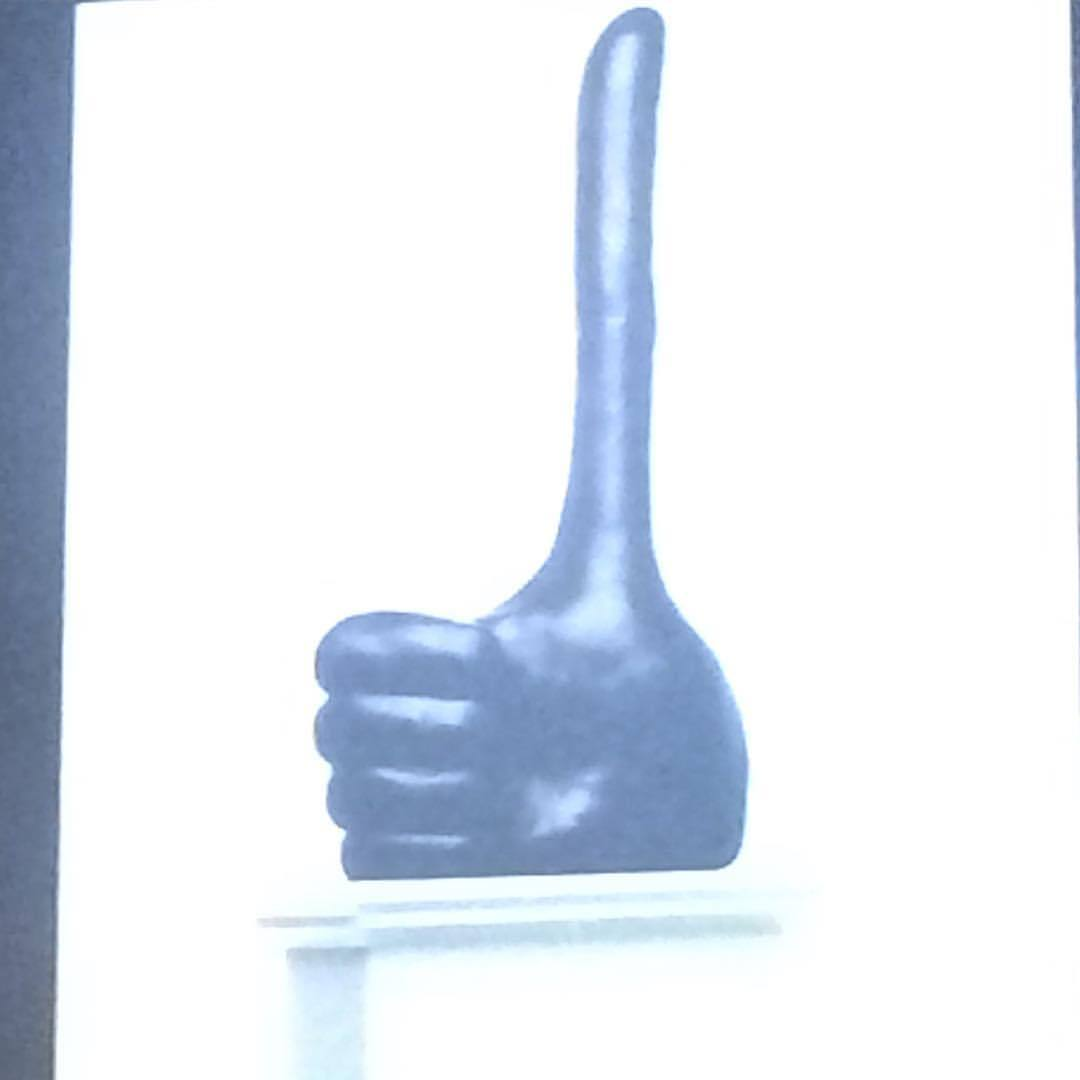 Thumbs up @davidshrigley @publicartfund @veralistcenter Making the world a better place.  (at The New School)