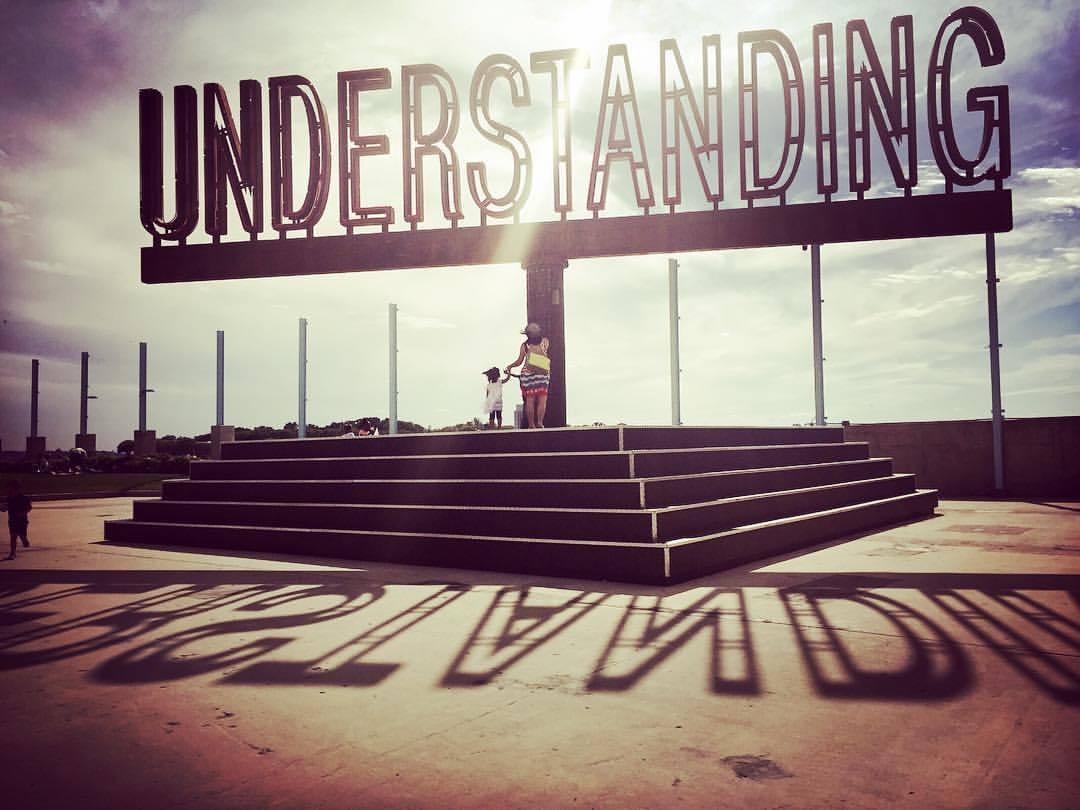 publicartfund :      pinkfrognyc :     Understanding, sculpture of Martin Creed.  #pinkfrognyc #art #graphicandproductdesign #garmentprinting  #tie #tee #tshirt #briefs #toddler #baby #onesie #handmade #tote #apron #framedart #love #passion #wedesign #weprint #wearenewyork #wearepinkfrog #madeinnyc #martincreed #sculpture #understanding #brooklynbridgepark #fashionfrogny #fashiontadpoleny #momanddaughter @brooklynbridgepark @brooklynmagazine (at Brooklyn Bridge Park)       on view now!