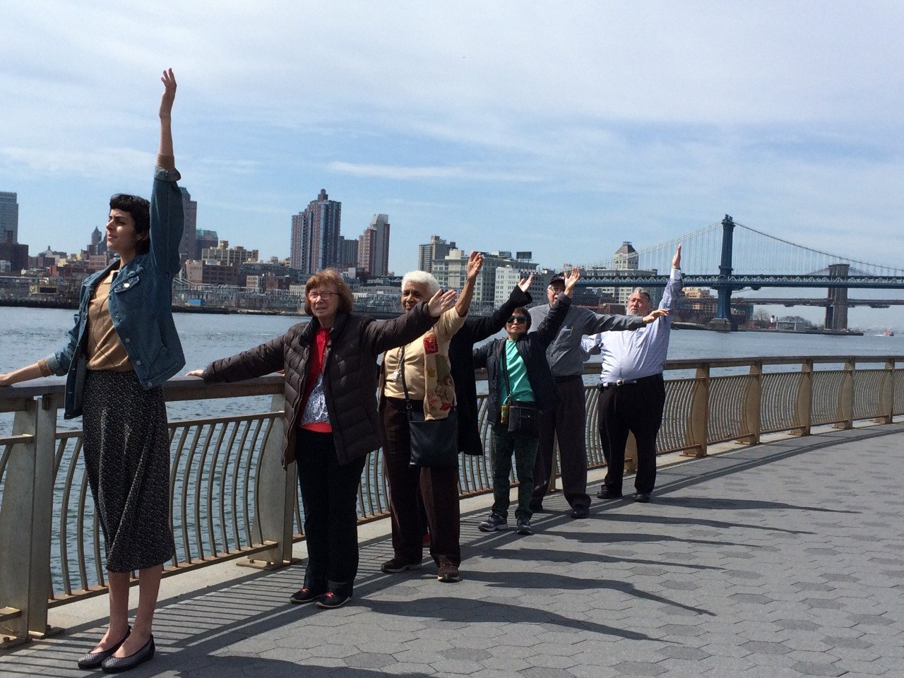 #movingstories barre workout on the East River.