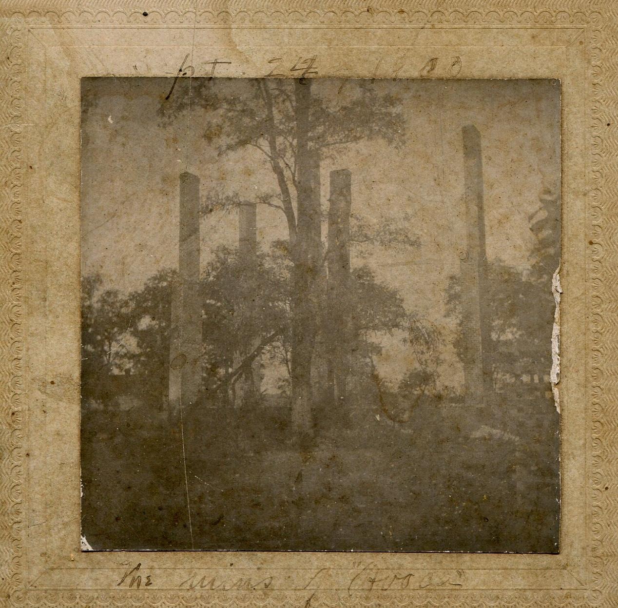 """Sept. 24, 1900, Ruins of   Avoca"""