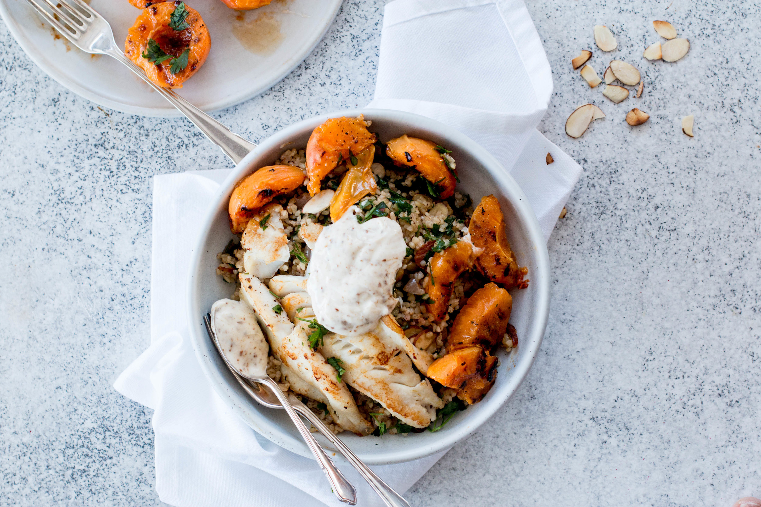 Grilled Apricots with Spiced Bulgur Pilaf & Pan-fried Fish-4.jpg
