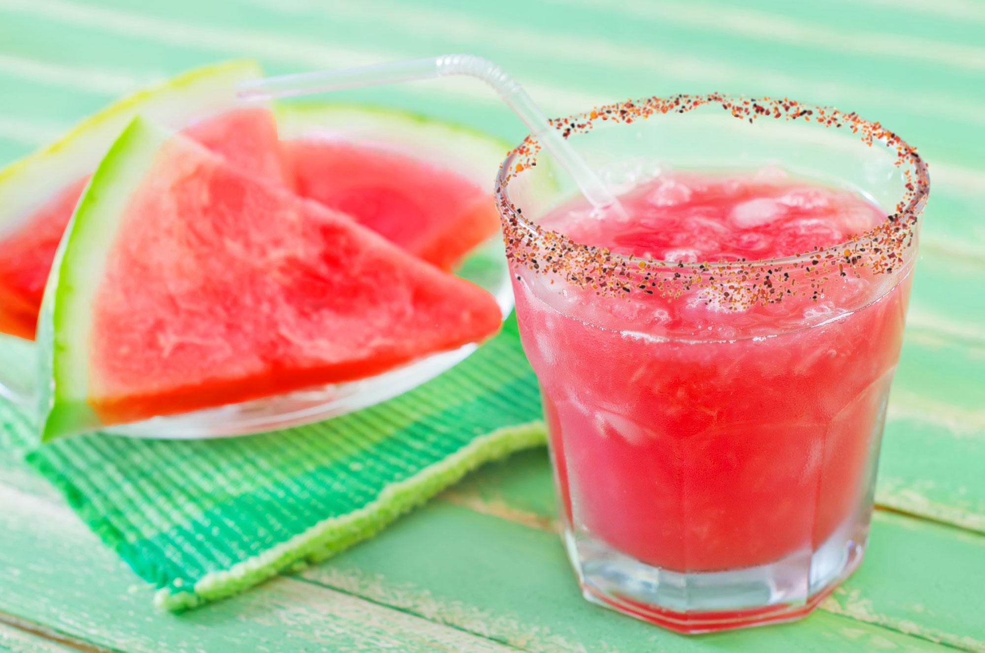 Watermelon Margarita With Tajin