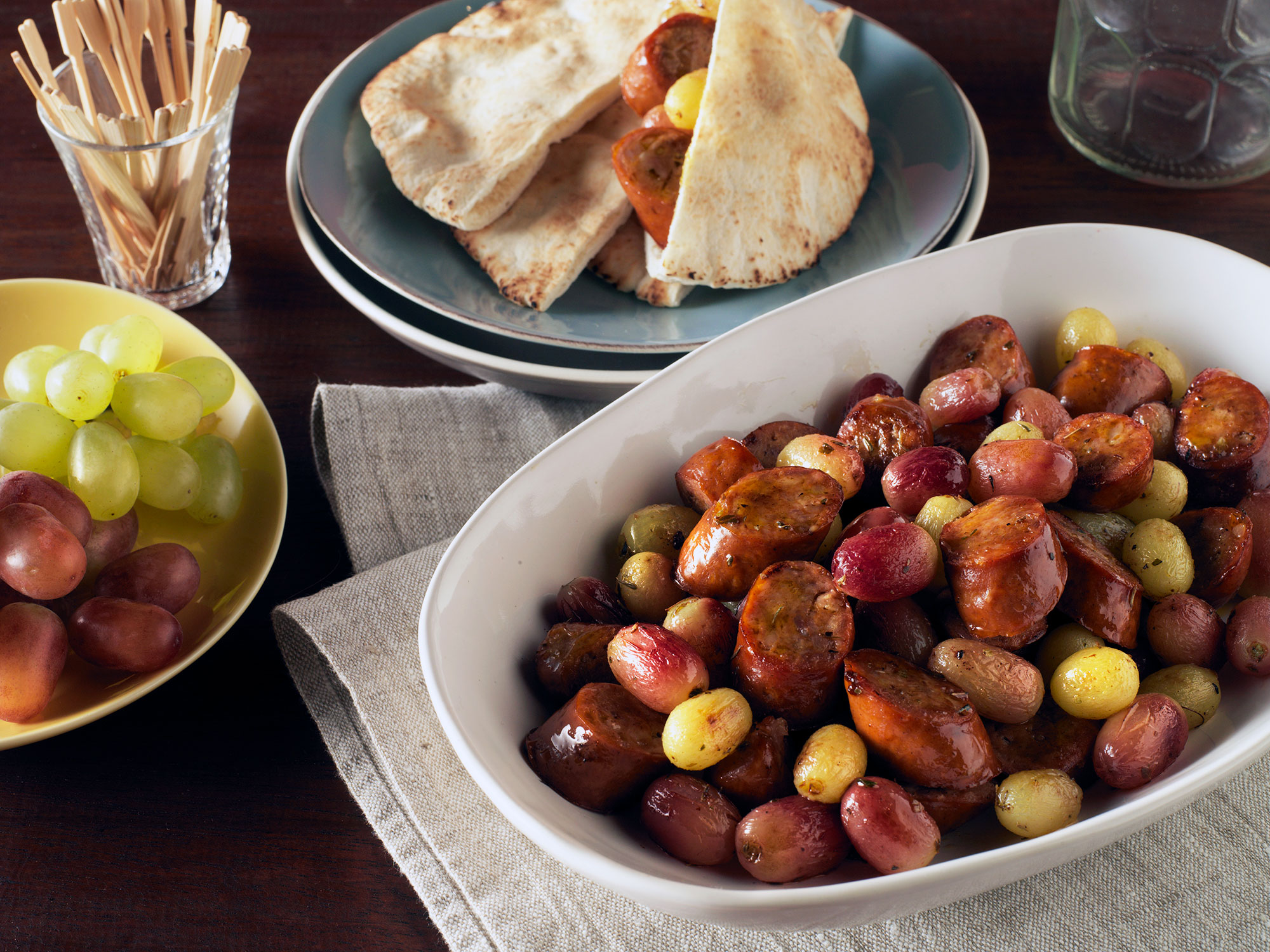 Chilean Grapes and Chorizo