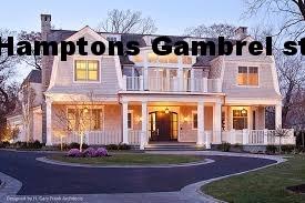Hamptons gambrel roof style