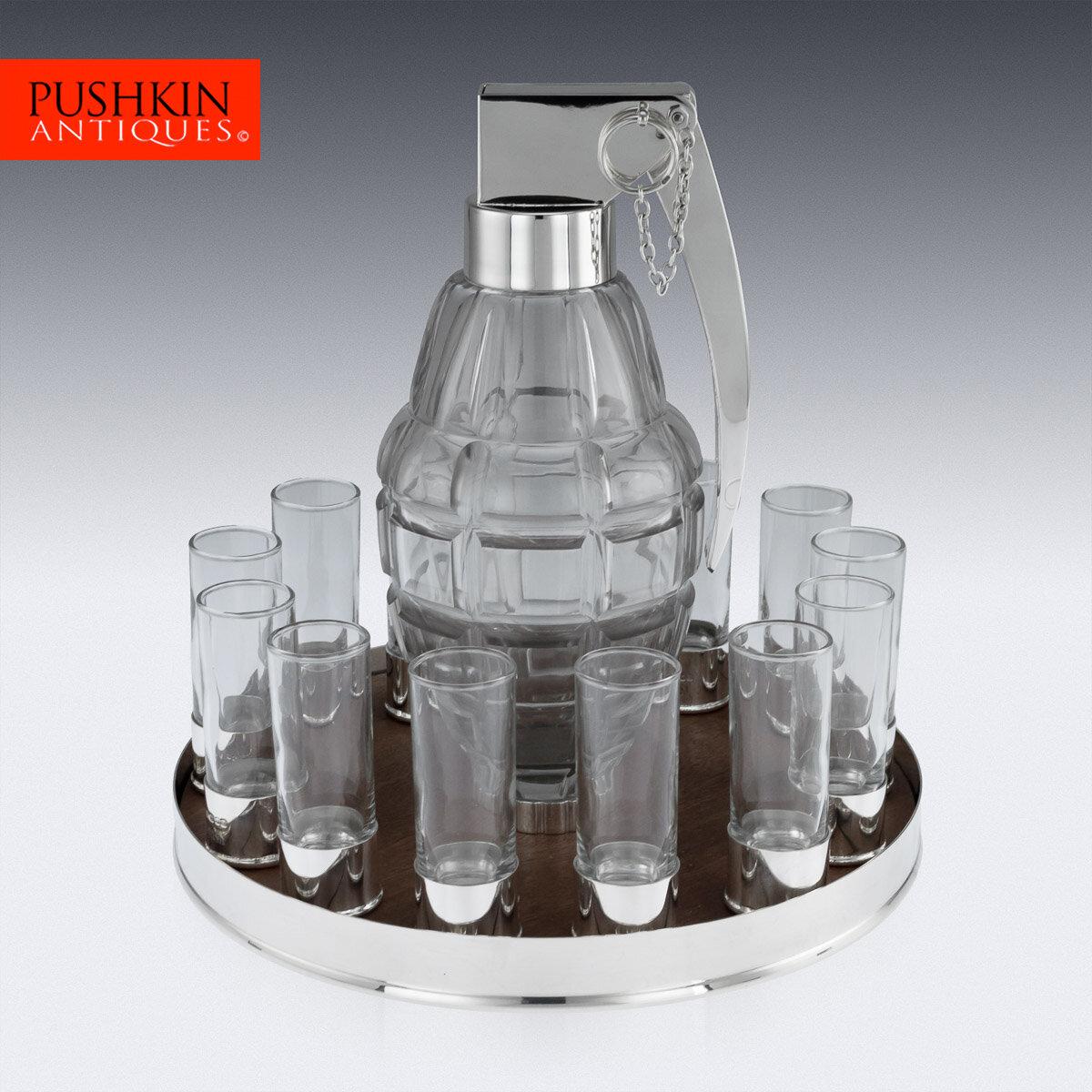 Grenade 12 Person Vodka Drinking Set -