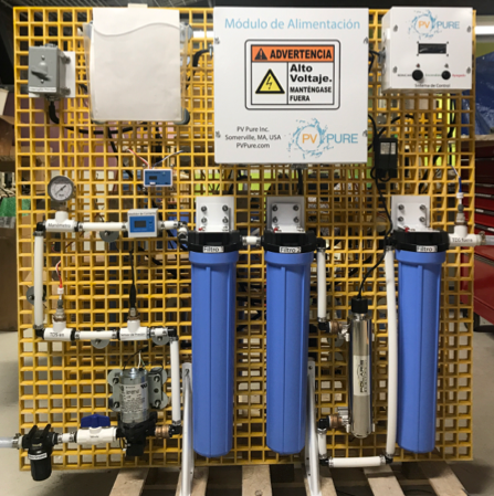 Water Purification Elements On   2,000 Liter/Day Grate Mounted System