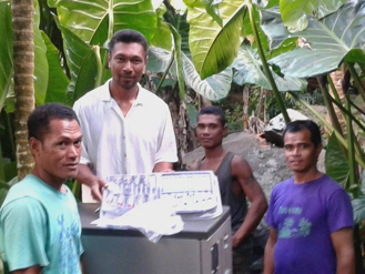 PV Puree's system's on outrigger communities to remote communities in the Solomon Islands in the Pacific Ocean. -