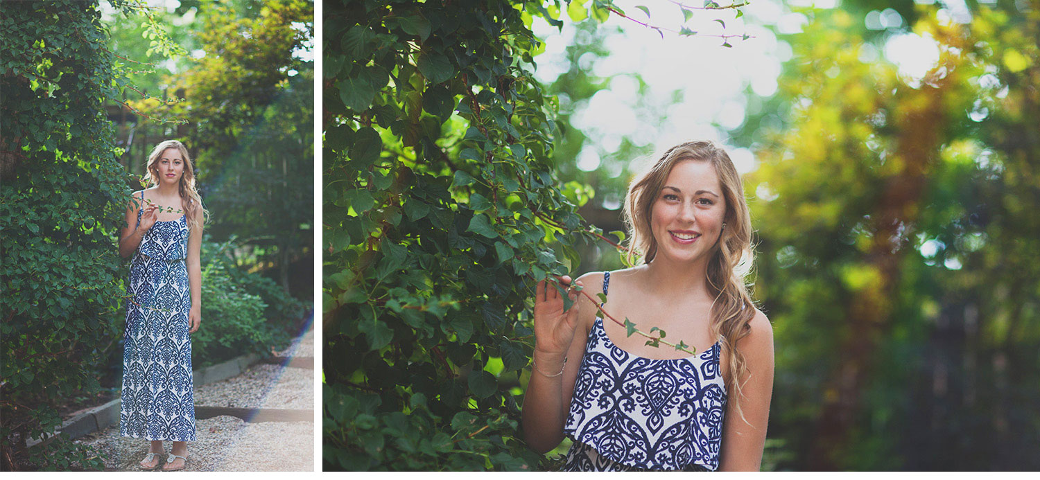 You've Got Flair | Clare's Garden Summer Senior Session, Clare & Ivy, Senior 2015