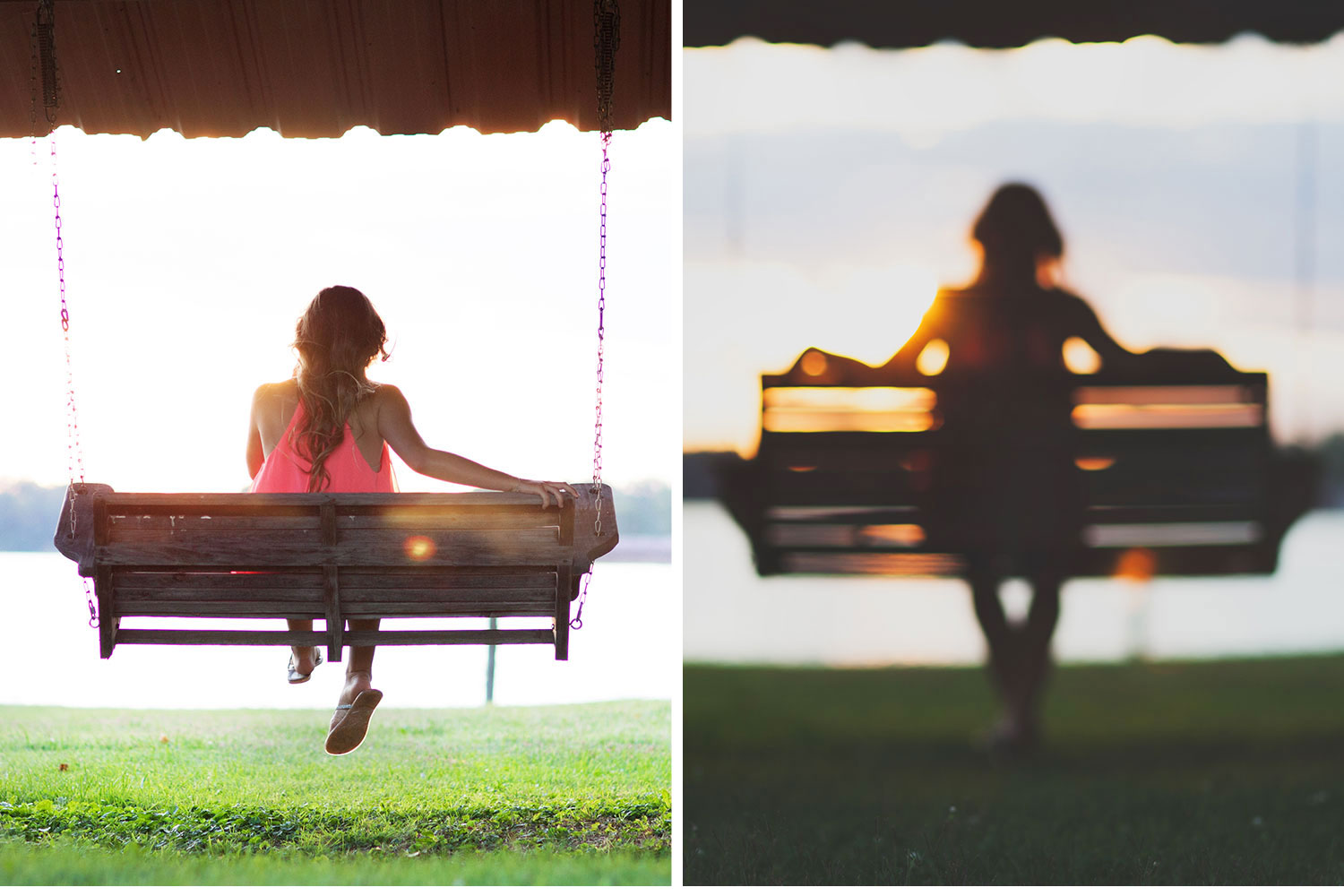 You've Got Flair | Clare's Garden Summer Senior Session, Clare Swinging At Sunset, Senior 2015