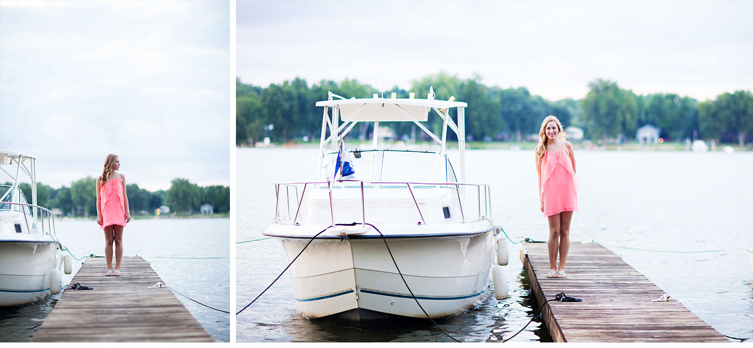 You've Got Flair | Clare's Garden Summer Senior Session, Clare At Boat Dock, Senior 2015