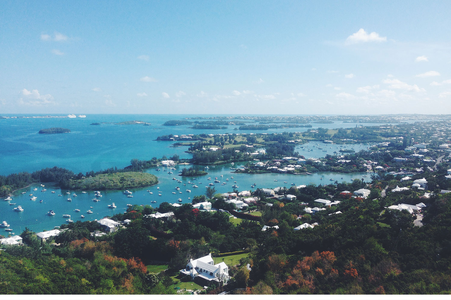 This is the view on top of Gibbs Hill Lighthouse. You can see almost the whole country. I'll be honest, I almost didn't make it up to the top. I have a major fear of heights and this sucker was high.