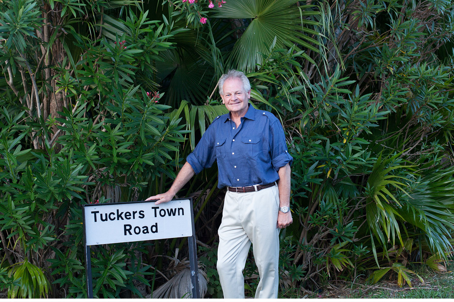 His favorite road on his favorite vacation, Tuckers Town Road.