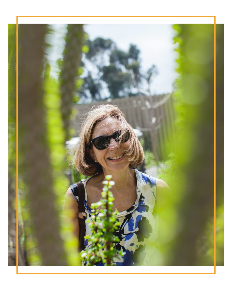 Image of my mom taken in San Diego last Mother's Day.