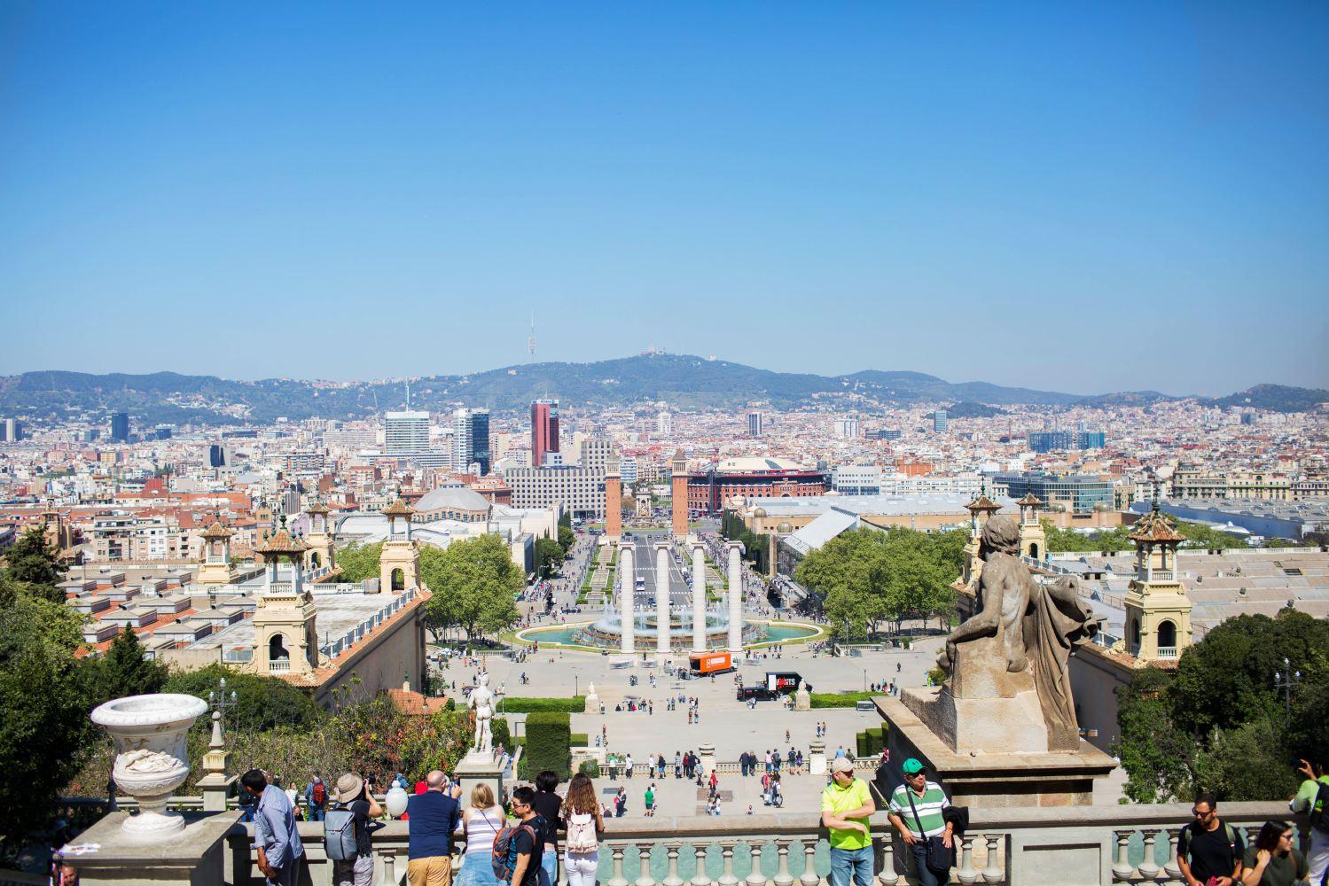 The view from the    Museu Nacional d'Art de Catalunya   .
