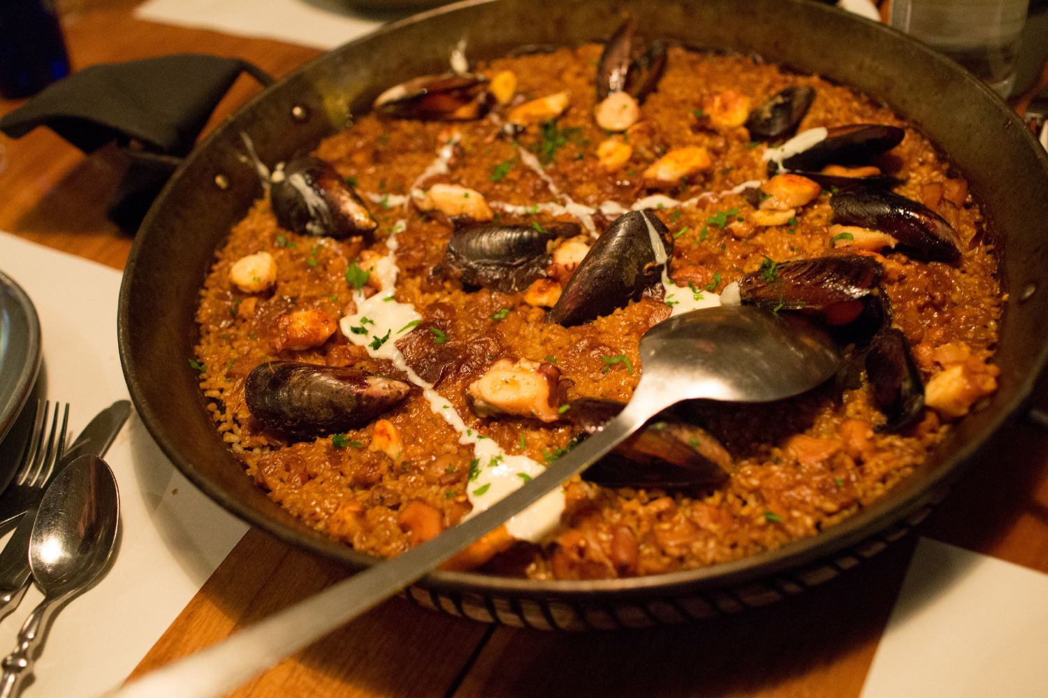 The seafood paella from    Barraca   .