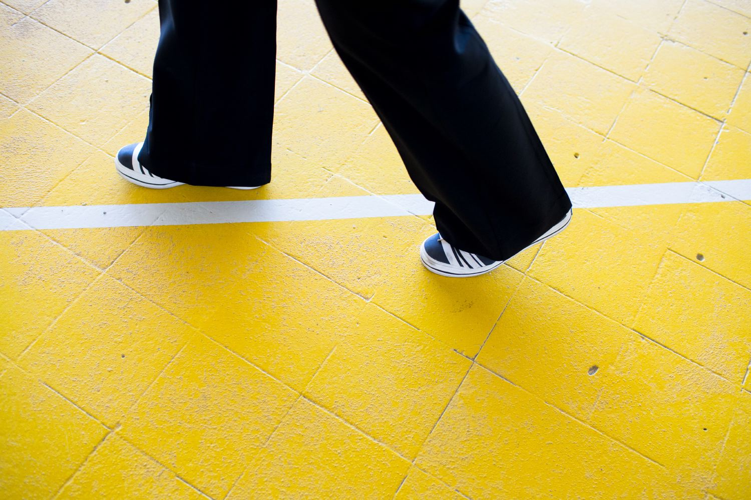 The yellow brick road at Olympic Park.