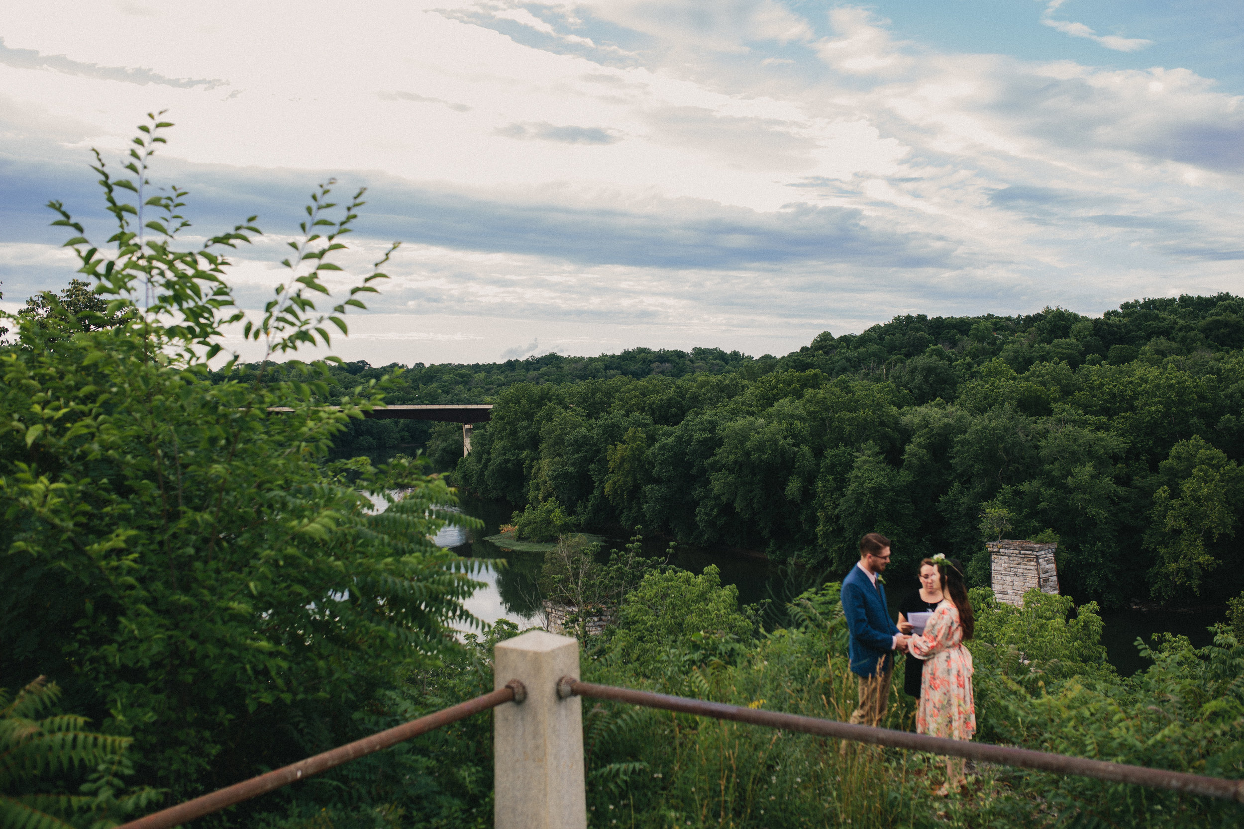 Pangtography elopement portrait of a couple in Shepherdstown, West Virginia.