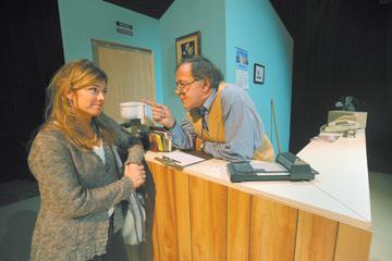 Tulsa Lovechild (Cara Wilder) speaks with Bob played by Joel Jahnke.