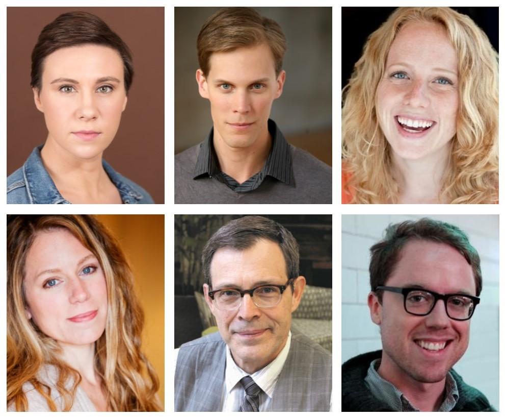 The cast   (clockwise from upper left):  Sasha Kostyrko, Erik Pearson, Kalen Watson, William Callahan, Ray Schultz, and Emily Jones.