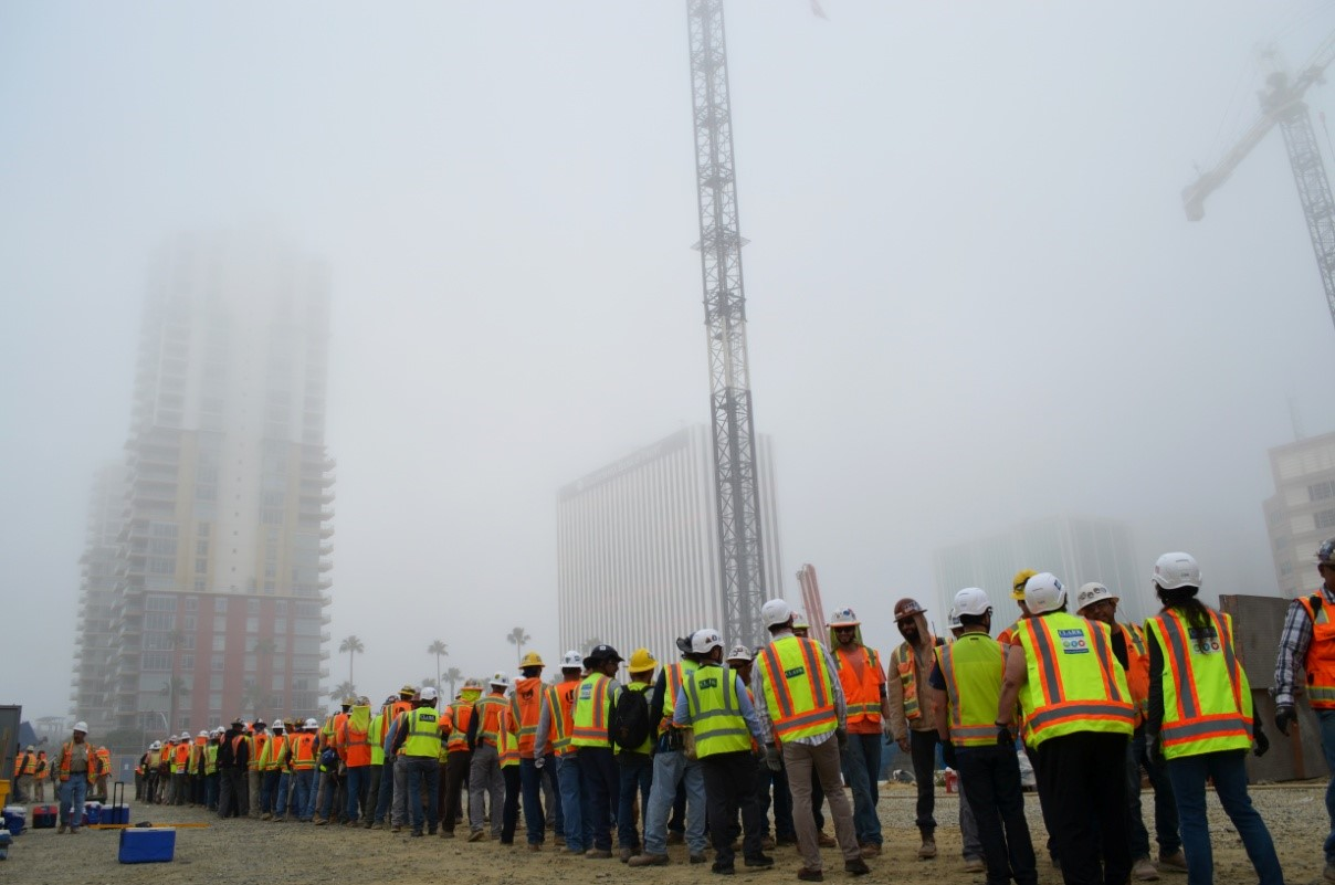 Safety week stand down on site