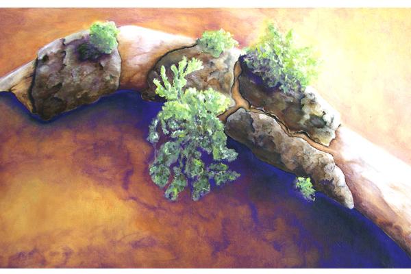 Small Oak Branch with Lichen