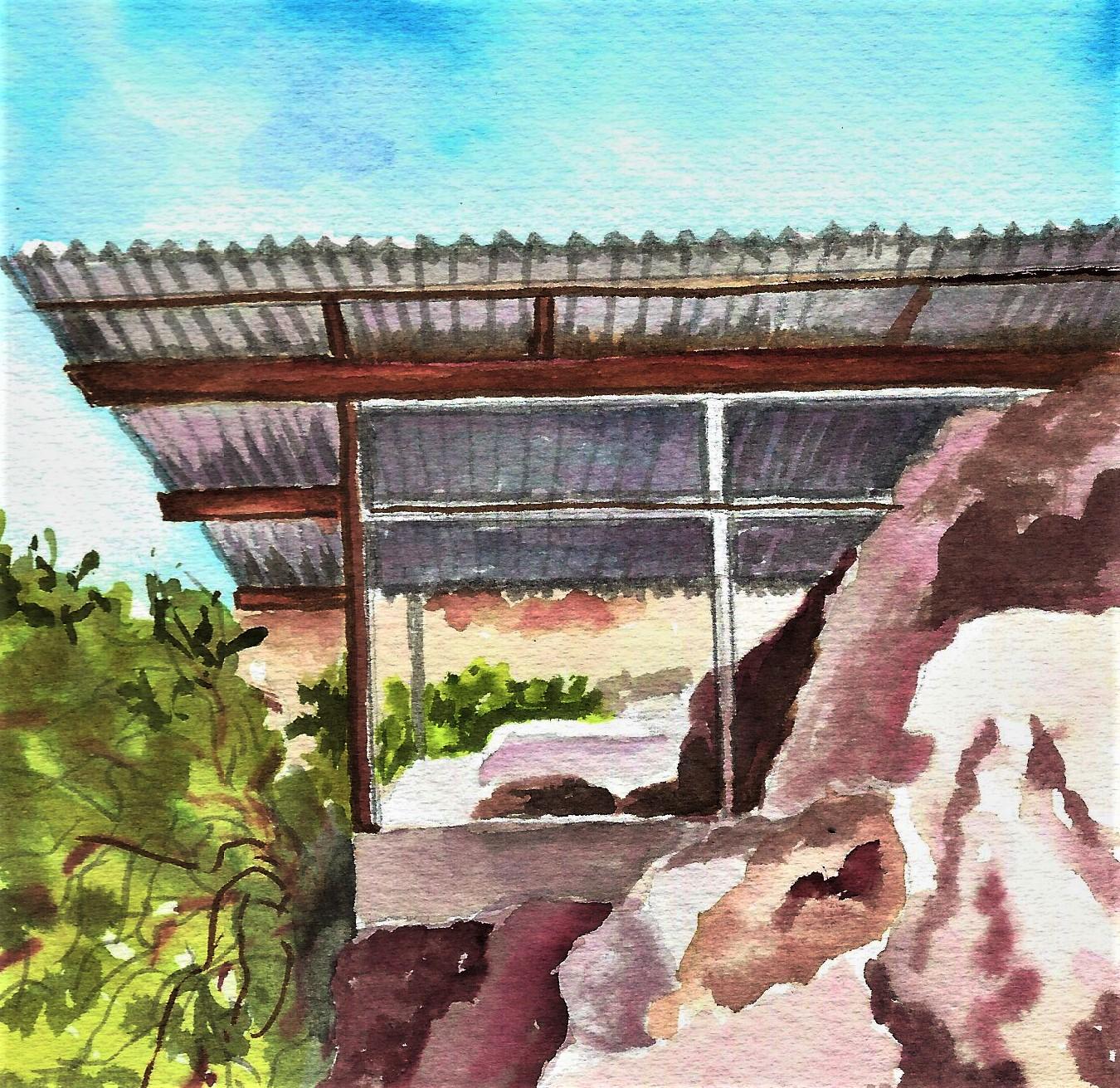 5 CARD NOTECARD SET - ALBERT FREY HOUSE 2AT The Vault, Museum Store, Palm Springs Art Museum