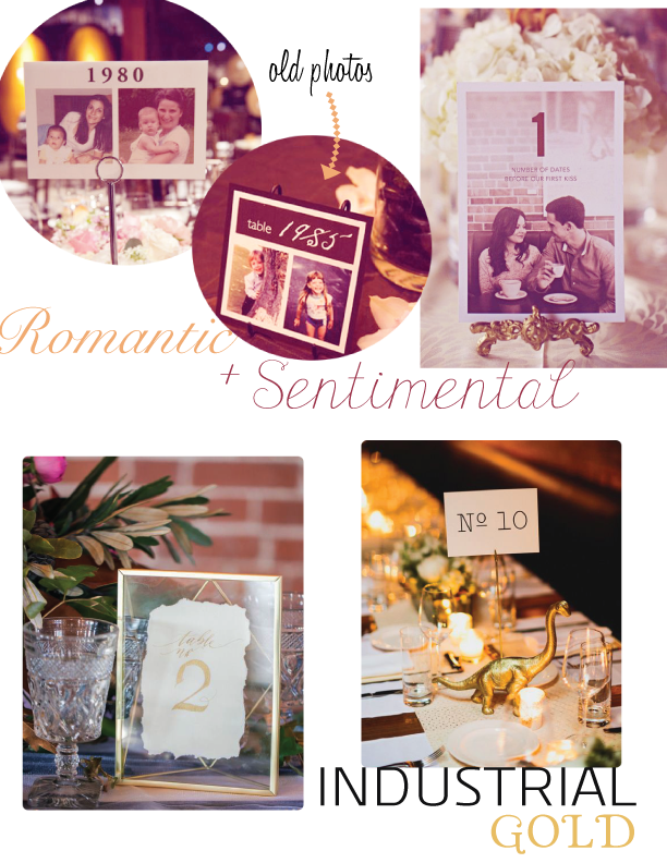 Image sources from top left:   Style Me Pretty     Ruffled Blog      Sarah Winward      Project Wedding     Wedding Bells      Hey Wedding Lady