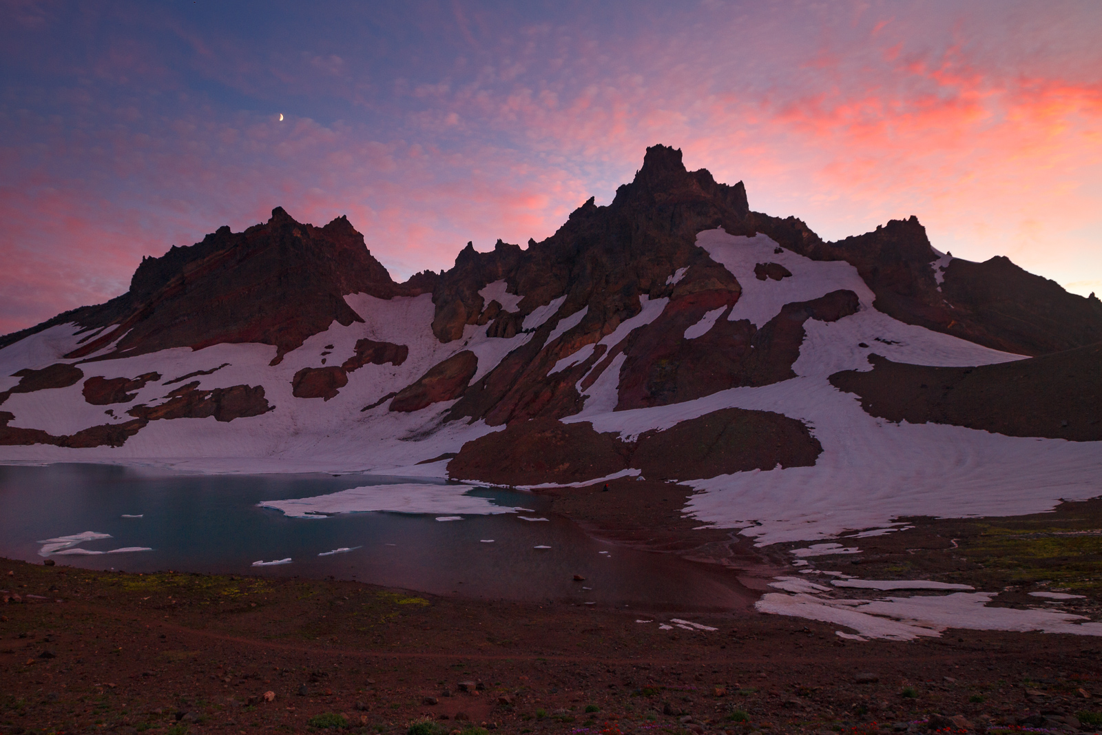 An alpine region of Central Oregon after sunset. No filters used.   ISO 250, 16mm, f/9.0, 6""