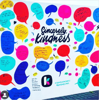 Kindness.org interactive wall