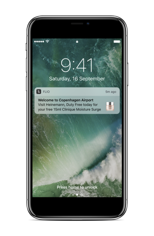 SEND PUSH NOTIFICATIONS   Push Messages are a very efficient tool as smartphones are the most important source of information for passengers.  Send push notifications to passengers when they are 500m from an airport - ready to spend.