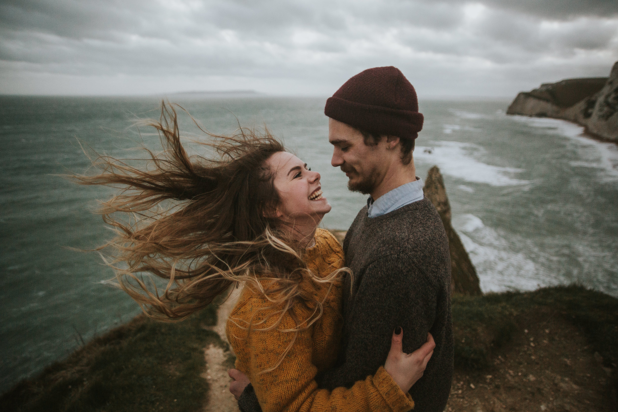 WINDY ENGAGEMENT SHOOT Crazy hair