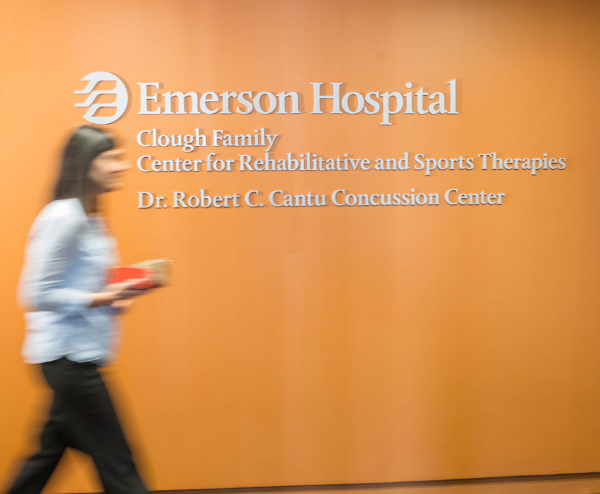 The Cantu Concussion Center is located in the same building as the new, state-of-the-art home of Emerson's Center for Rehabilitative and Sports Therapies in Concord, Mass.